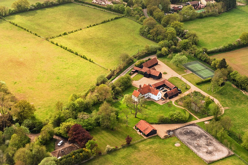 Large rural property from the air